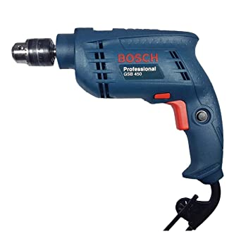BOSCH GSB450 Plastic Impact Drill  Blue  Pack Of 2 Drills