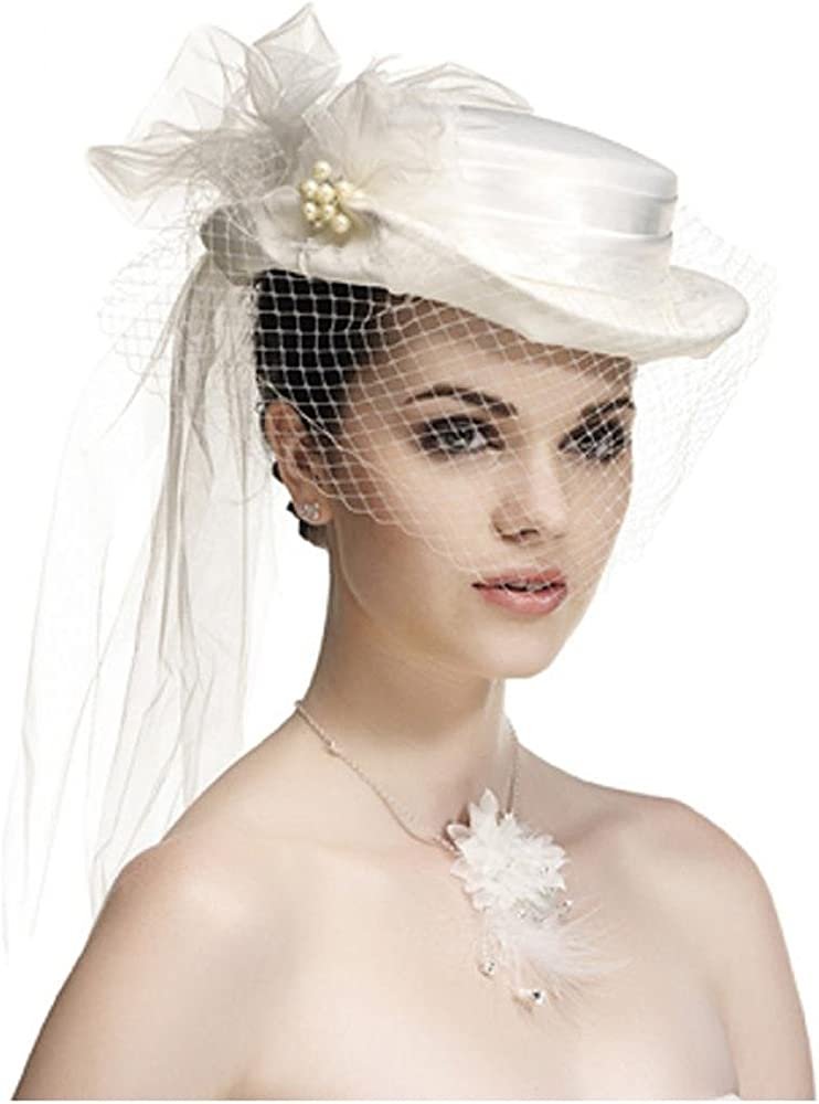 aliexpress large choix de couleurs original Chapeau femme avec voilette, ceremonie, mariage, mariee ...