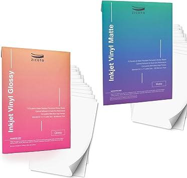 Premium Printable Vinyl Sticker Paper for Your Inkjet Or Laser Printer 15 Glossy
