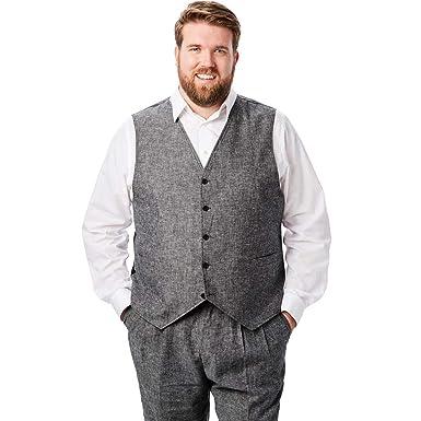 dededd11439 KS Island Men s Big   Tall Linen Blend 5 Button Suit Vest at Amazon ...