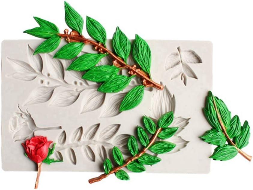 Wongfon Tree Bark//Leaf Wood Panel Silicone Impression Texture Mat Fondant Mould Cake Mold