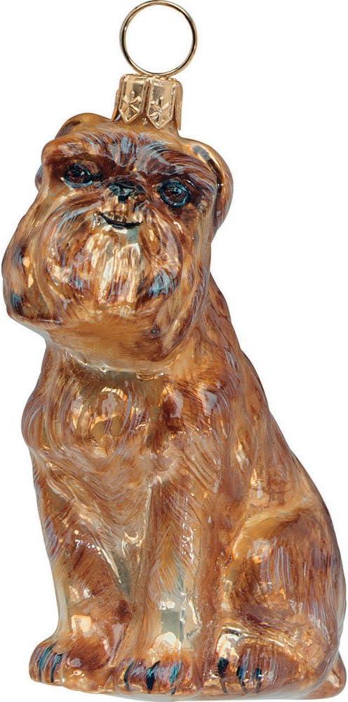LUCITE, BRUSSELS GRIFFON DOG ORNAMENT
