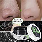LuckyFine Blackhead Remover Mask - Charcoal Purifying Peel off Mask - Black Mask - Purifying Deep Cleansing Facial Mask - Pore & Acne Treatment Mask, Oil Control + Mirror & Spoon