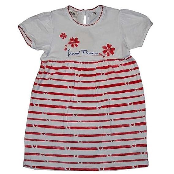 on sale e0ddd b1993 F.LLI CAMPAGNOLO - Vestito bambina bianco e rosso Special ...