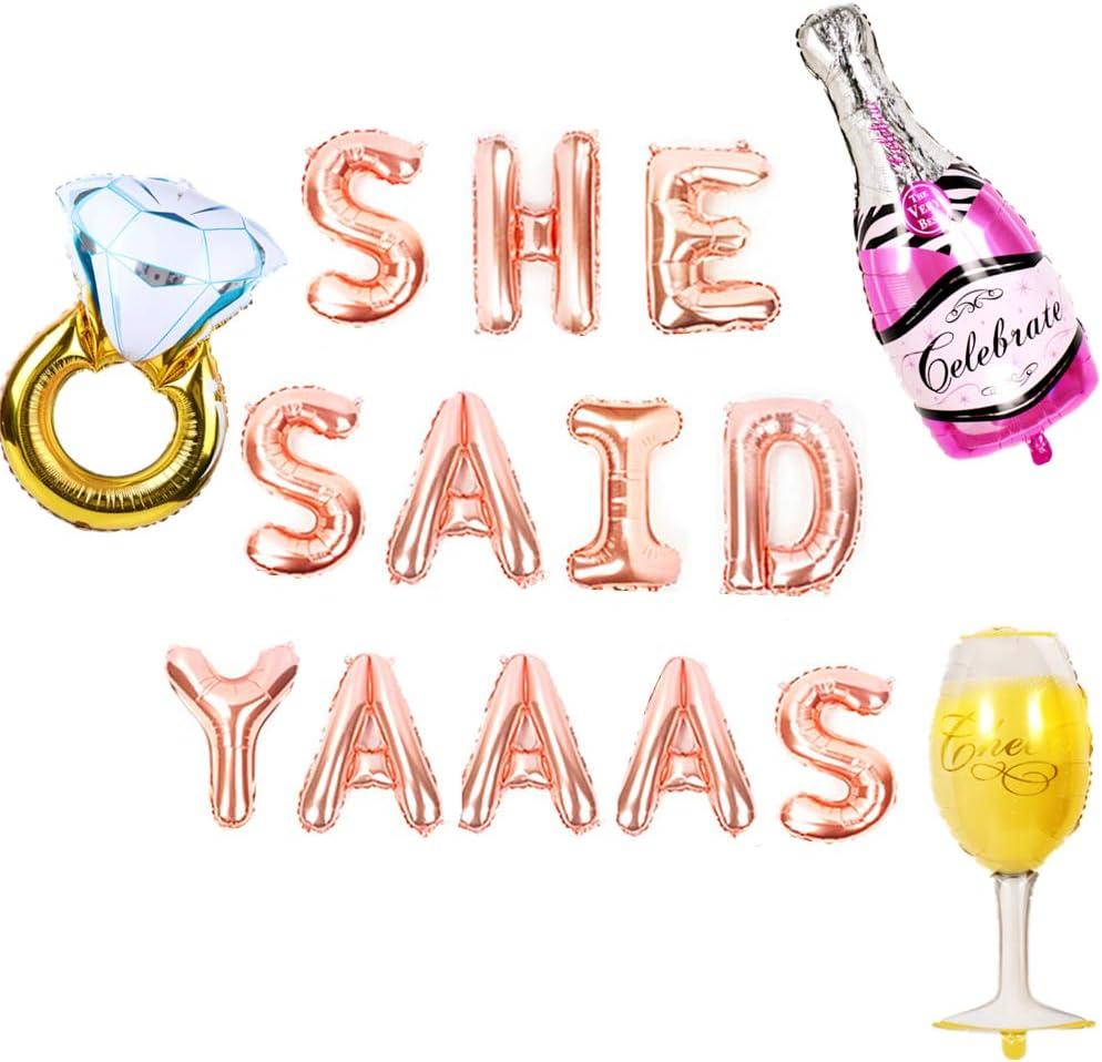 Glitter Banner She said yaaas Bachelorette Party Banner Bridal Shower Banner Bridal Shower Bachelorette Banner Engagement Party Party