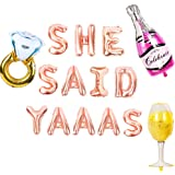 JeVenis She Said Yaaas Banner She Said Yaaas Balloons She Said Yes Balloon for Engagement Party Decor Bridal Shower…