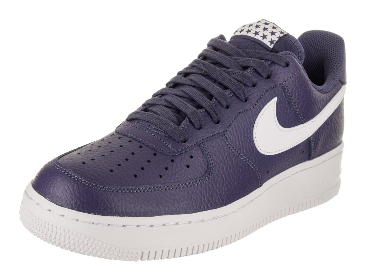 sale retailer 8eaa5 545fd Galleon - NIKE Mens Air Force 1 Low 07 Stars Basketball Shoes Blue Recall White  AA4083-401 Size 11.5