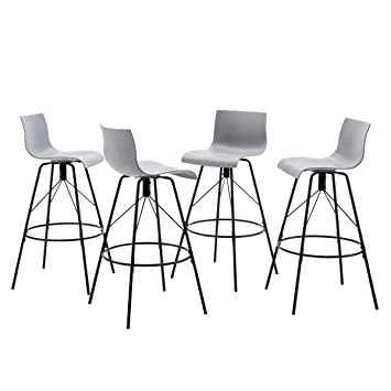 Amazoncom Changjie Furniture 30 Inch Modern Metal Barstools For