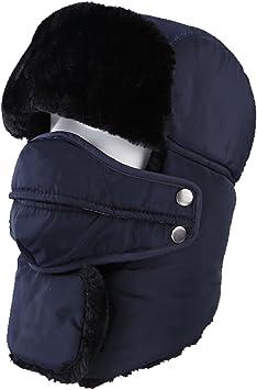 Topnaca Gorro Unisex cálido, Incluye máscara y Cuello,Estilo Ruso ...