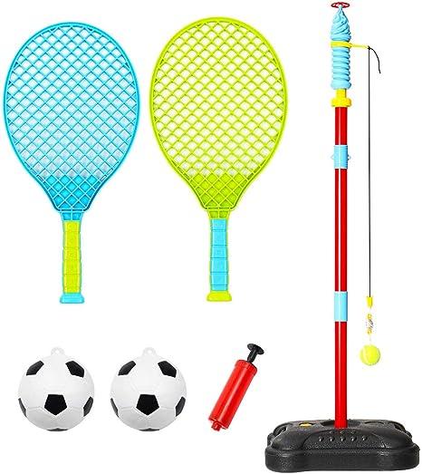 Anddoa Tetherball Juguetes portátil para niños, Juego de Pelota ...