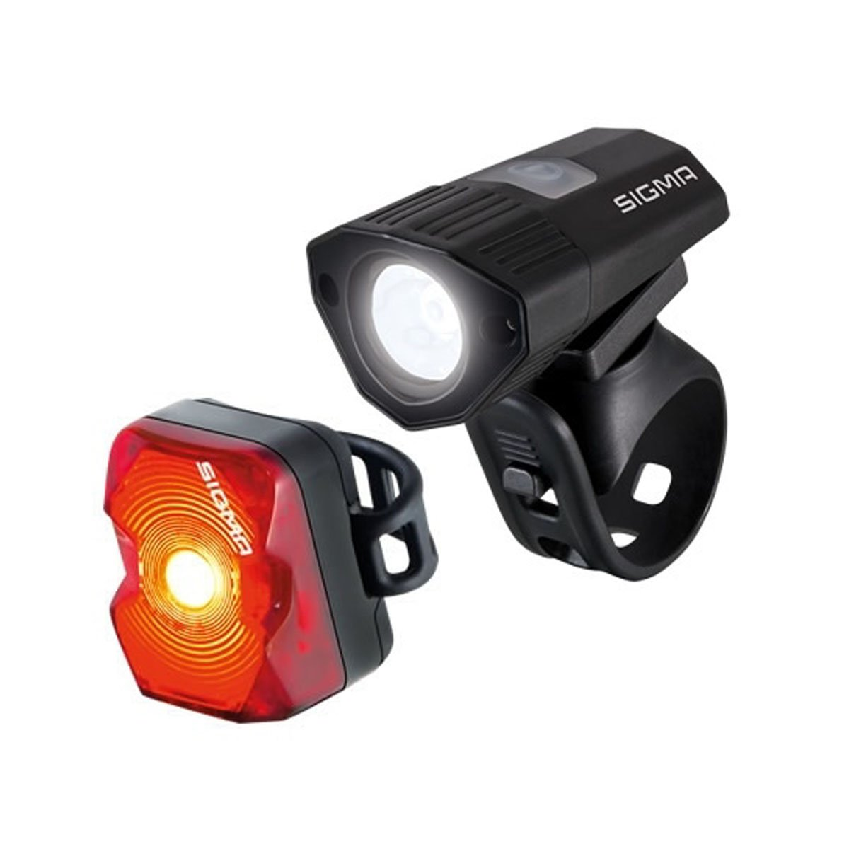 Buster 100/Nugget Flash USB Rechargeable Front and Rear Bicycle Light Set
