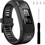 Wizvv Compatible Bands Replacement for Garmin Vivosmart HR, with Metal Buckle Fitness Wristband Strap (8 Colors)