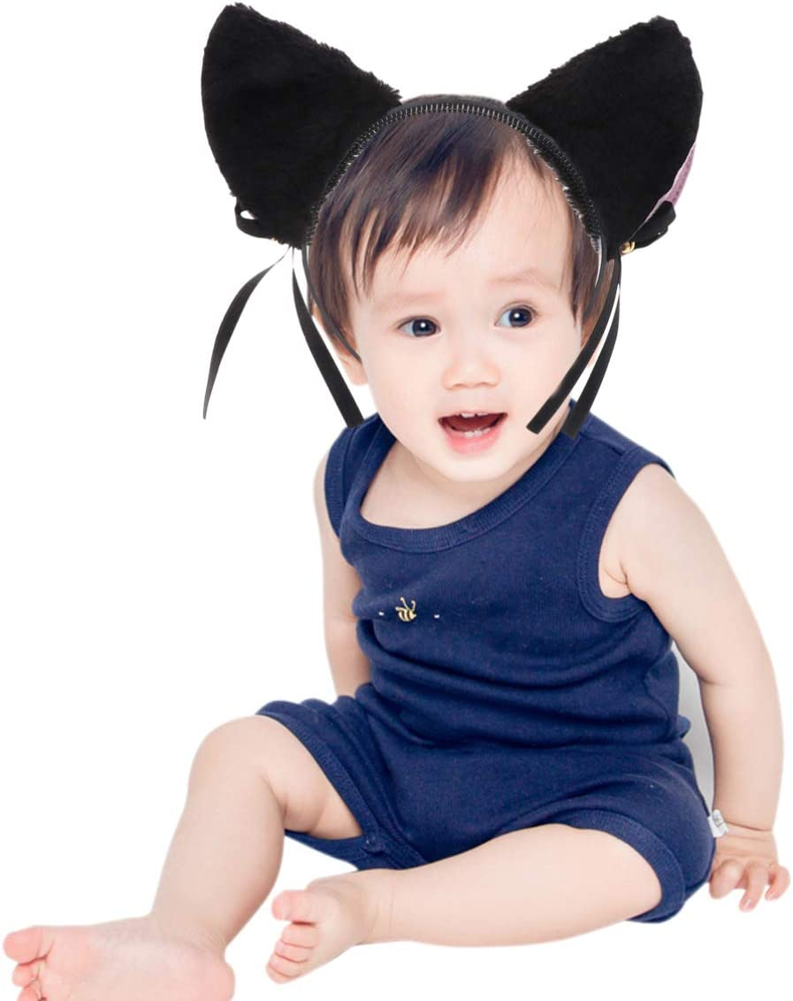 Cat Ear Headband with Bell Cosplay Headband Plush headband fair Accessories for Parties Events