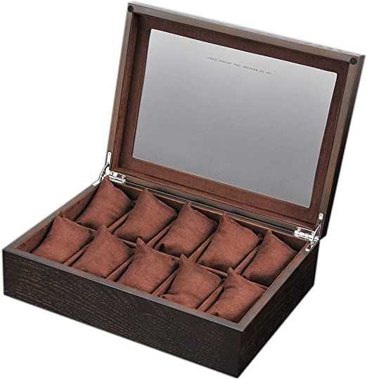 Elegante Caja de Reloj para 10 Relojes Caja de exhibición con Tapa ...