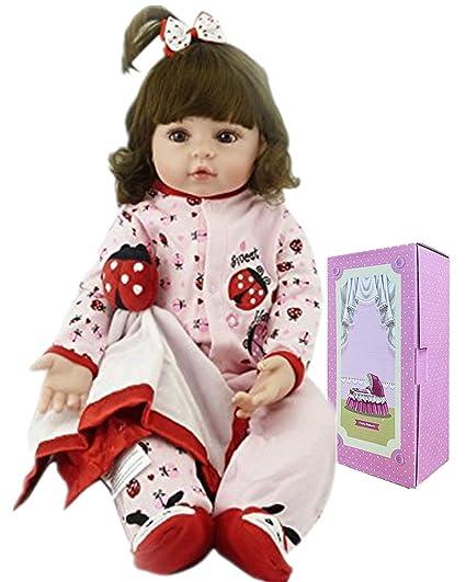 "22/"" Handmade Lifelike Reborn Toddler Girl Doll Silicone Vinyl Baby Kids Toy Gift"
