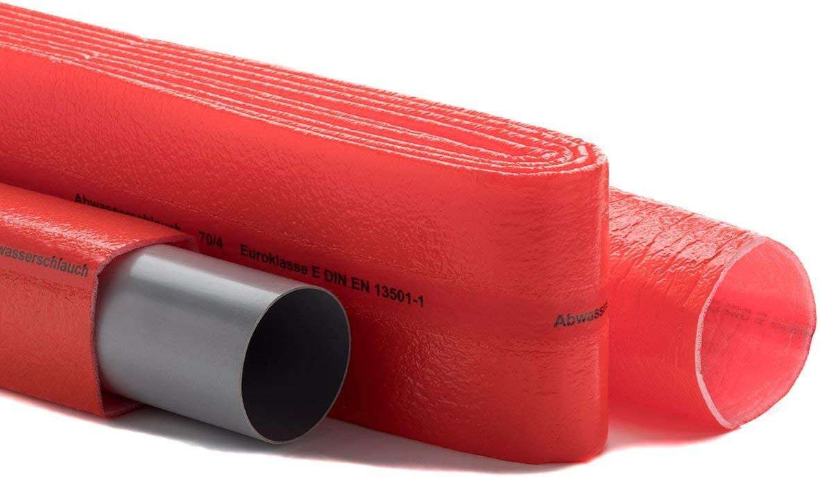 50 m Schutzschlauch Isolierschlauch Isolierung rot Abfluss Isolierdicke 4 mm
