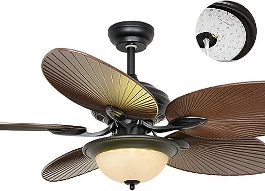 Luces de ventilador de techo tropical de 56 pulgadas con 5 aspas ...