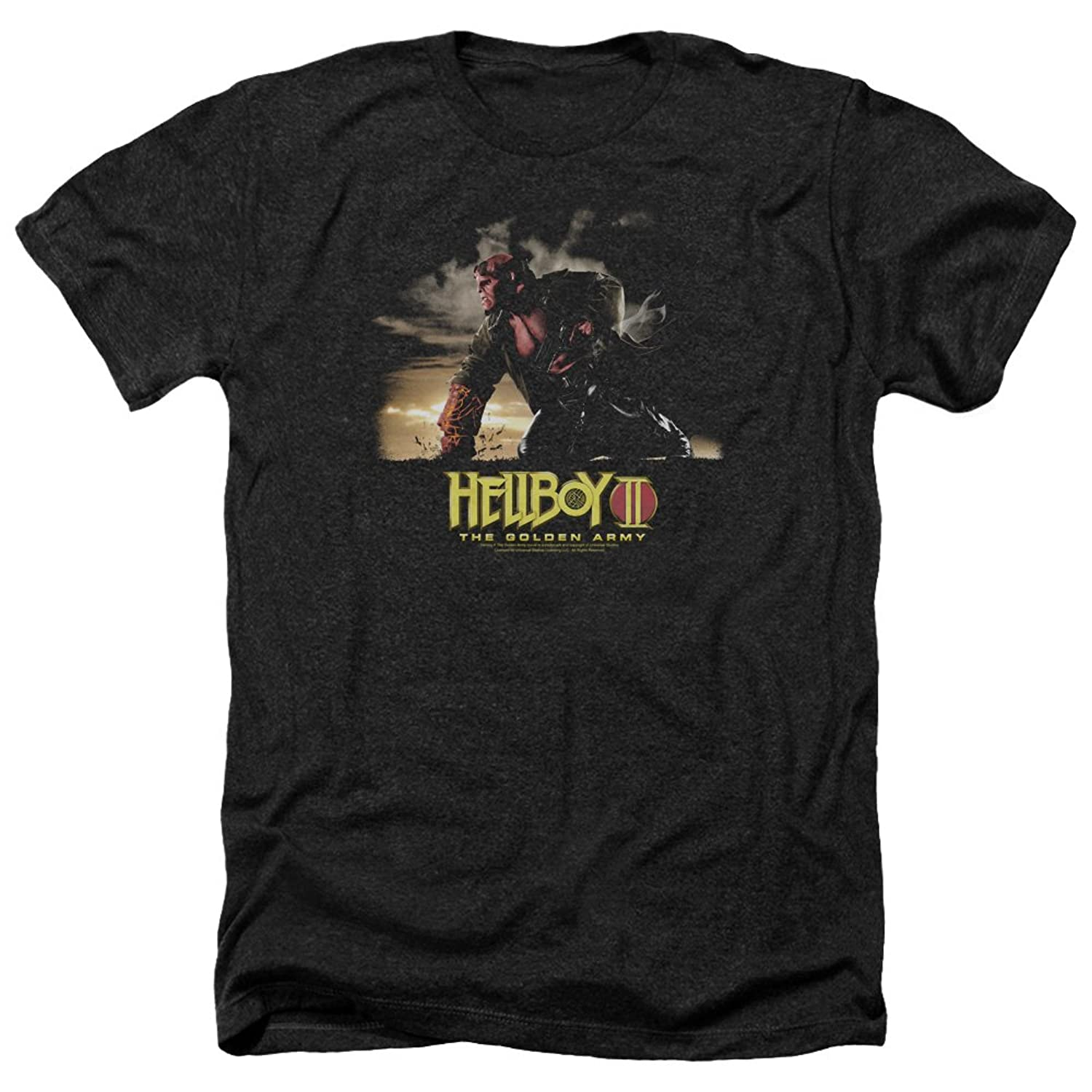 Hellboy II The Golden Army Fantasy Movie Poster Art Adult Heather T-Shirt Tee