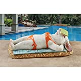 Design Toscano QM2885200 Beach Bunny Soaking Up Some Rays Garden Statue Review