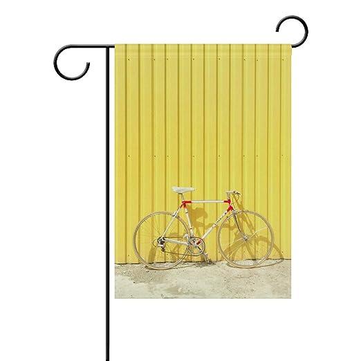 NaiiaN Bandera de jardín Doble Cara para Bicicleta Solitaria de 12 ...