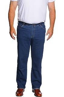 4100 Herren 5 Pocket Summer-Denim-Jeans in Übergrößen mit Stretch Bund,Big Size