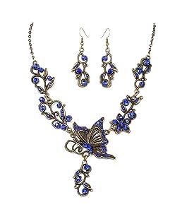 Beuya Conjunto Joyas Mujer Diseño Clasico Moda Collar Colgante y Pendientes Original Regalo para Conjunto de Joyas de Perlas para Mujer
