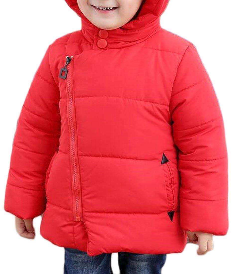 Wopop Toddler Boys' Winter Puffer Down Hooded Winter Parkas Jackets Coat