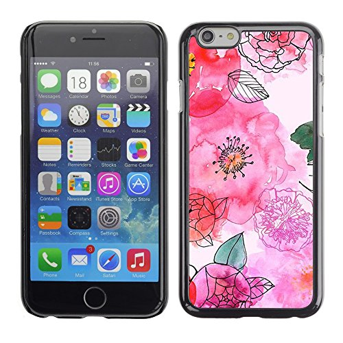 Soft Silicone Rubber Case Hard Cover Protective Accessory Compatible with Apple iPhone? 6 (4.7 Inch) - hand drawn white flowers floral