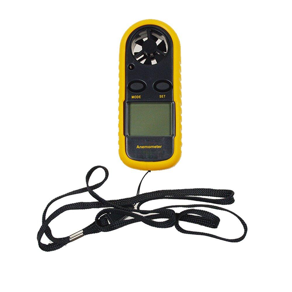 Wind Speed Anemometer Handheld,Digital Wind-Speed Backlight Airflow Gauge Meter Anemometer Thermometer by Dressffe