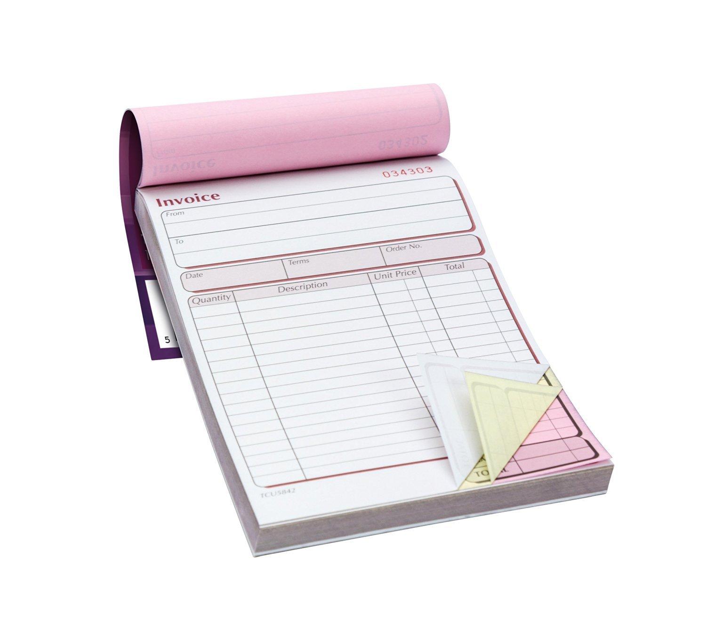 Pukka Pad–Confezione di 5blocchi copiativi per fatture, 203x 137mm–Single 203x 137mm-Single