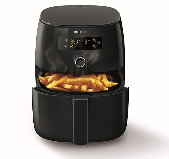 Philips HD9641/90 Avance Collection Airfryer - Freidora baja en grasa, 1425W, 0,8 kg, 200 °C, Solo, Botones, Giratorio, Negro: Amazon.es: Hogar