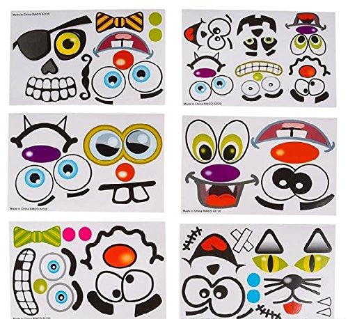 Make Your Own Jack O Lantern Halloween Sticker Set (Package of 12 Sticker Sheets)