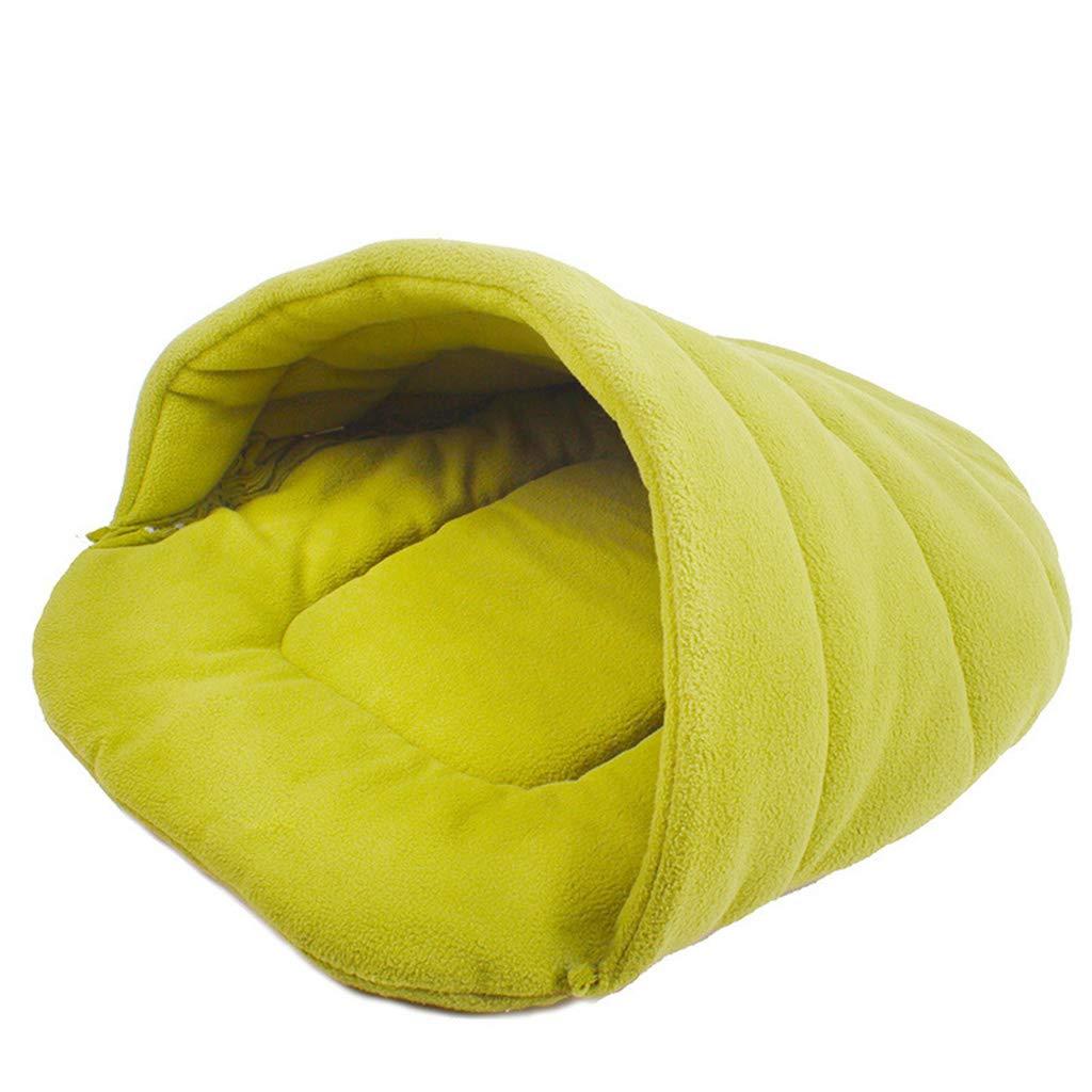 GREEN Xl GREEN Xl Pet Bed, Pet Supplies Pet Sleeping Bag Cat Litter Cat House Kennel (color   Green, Size   XL)