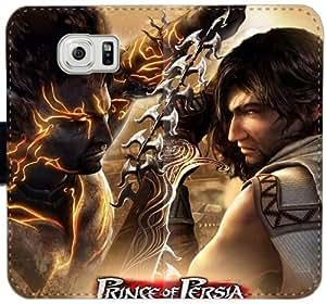Prince Of Persia Las Arenas del caso con cuero W2H0Q Funda Samsung Galaxy S6 Edge Forgotten funda 6t5P61 caso del tirón del teléfono funda de plástico transparente