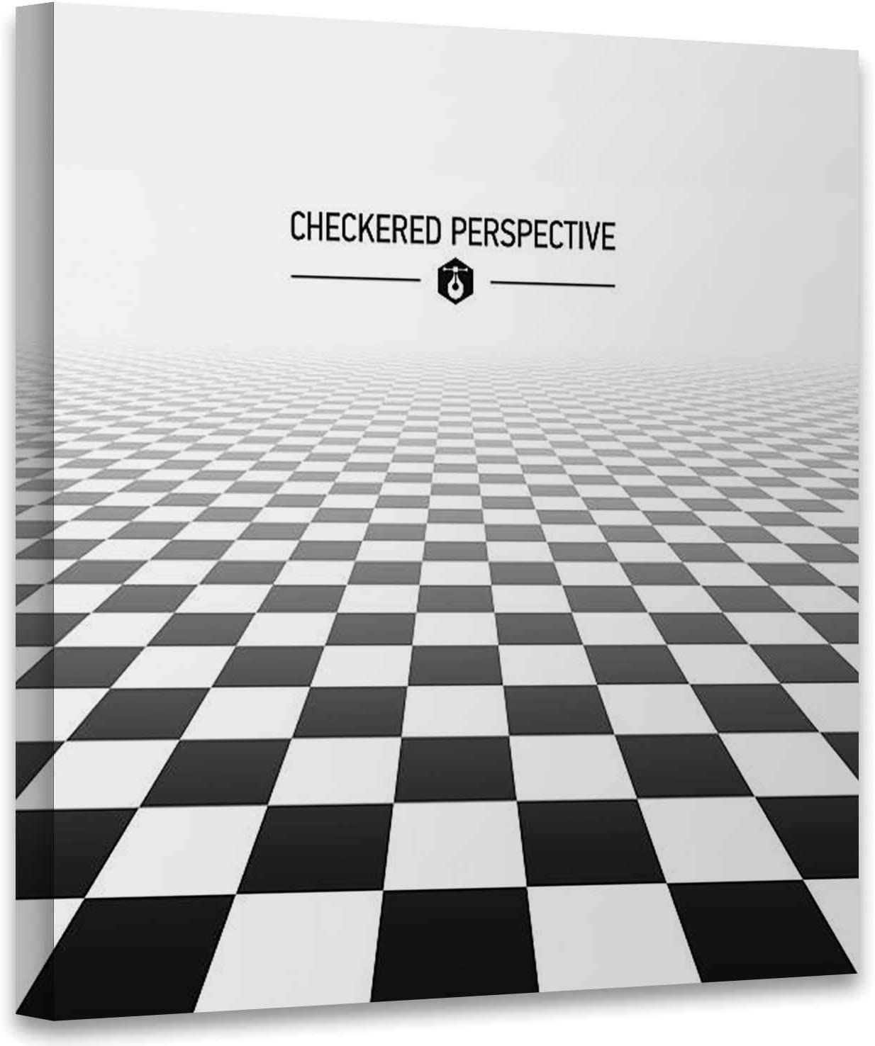 Amazon Com Hitecera Checkered Perspective Background Illustration Chess Board Art Print Decals Chess Art Print For Living Room 19x19in Posters Prints