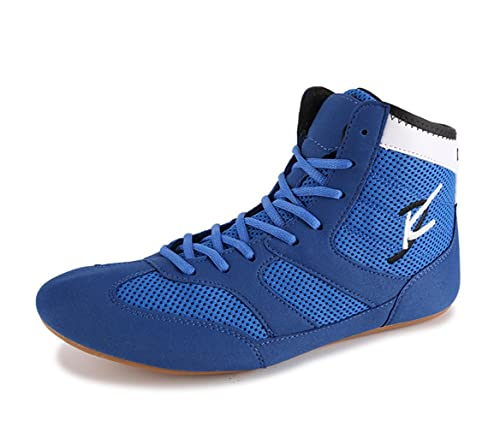 innovative design f37b1 86ff6 Breathable Wrestling Shoes Boots for Men Women Kids Blue