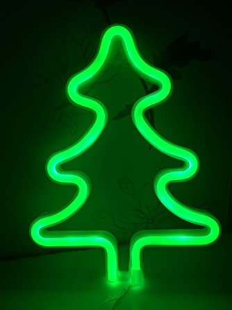 christmas tree neon signs led decor light wall decor for christmas decoration birthday party home led