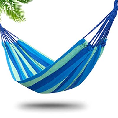 DUT Garden Camping Hammock, Portable Hammock – Perfect for Camping & Outdoors or Gardens and Travel – Max Load 150kg (Single Hammock, Blue) : Garden & Outdoor
