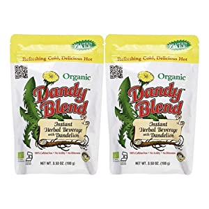Dandy Blend Instant Herbal Beverage with Dandelion - Organic 3.53 oz (Pack of 2)