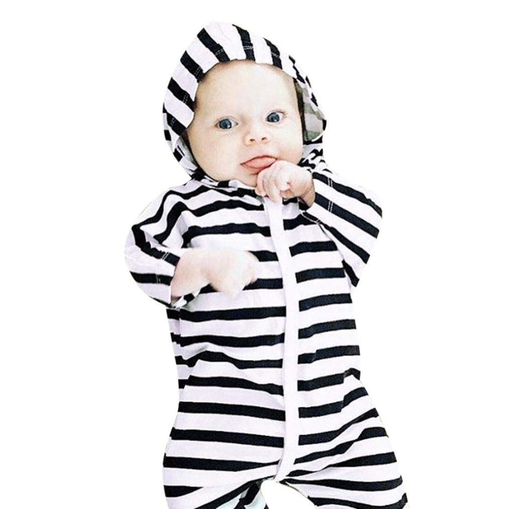 6aee98a51 Amazon.com  Toddler Baby Girl Boys Hooded Jumpsuit