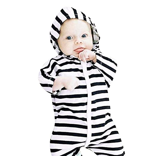 7de03d11736b Amazon.com  Toddler Baby Girl Boys Hooded Jumpsuit