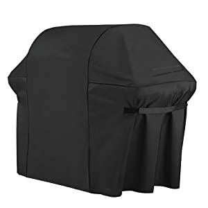 iCOVER Gas Grill Cover-64 inch 600D Canvas Waterproof Fade Resistant Heavy Duty Barbeque BBQ Grill Cover Sized for Weber,Char Broil,Holland, Jenn Air,Brinkmann.G21654.