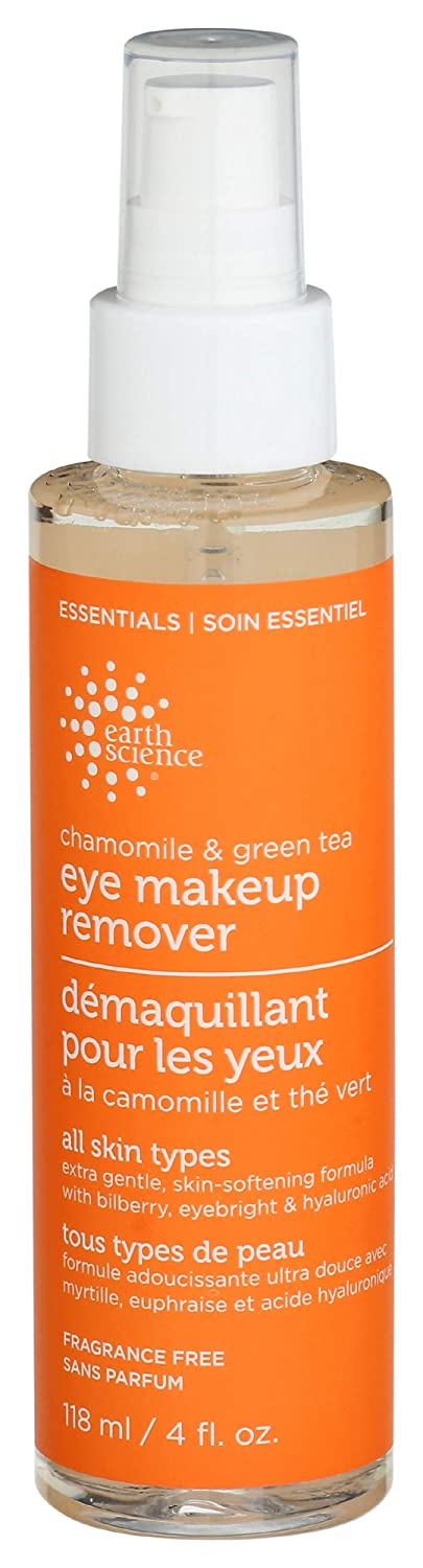 Earth Science, Makeup Remover Eye Chamomile Green Tea, 4 Fl Oz