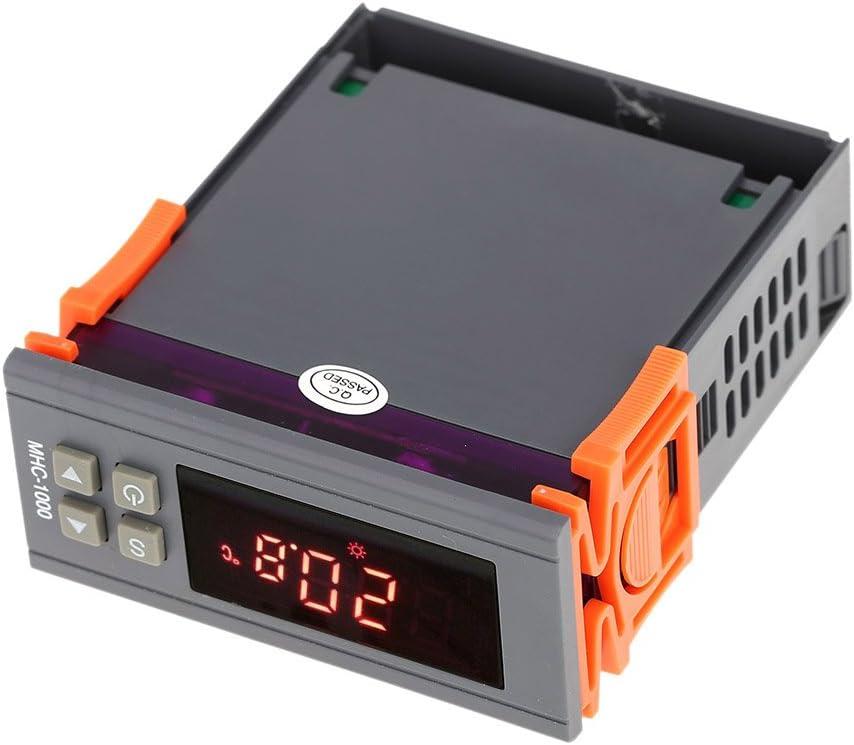 SSR-40 DA Dissipateur Thermique R/égulateur de Temp/érature 220V K Sonde Thermocouple KKmoon/® REX-C100FK02-V * Un Contr/ôleur de Temp/érature Intelligent Sortie SSR