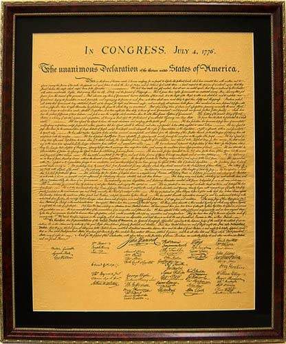 REPLICA AMERICAN  US DECLARATION OF INDEPENDENCE