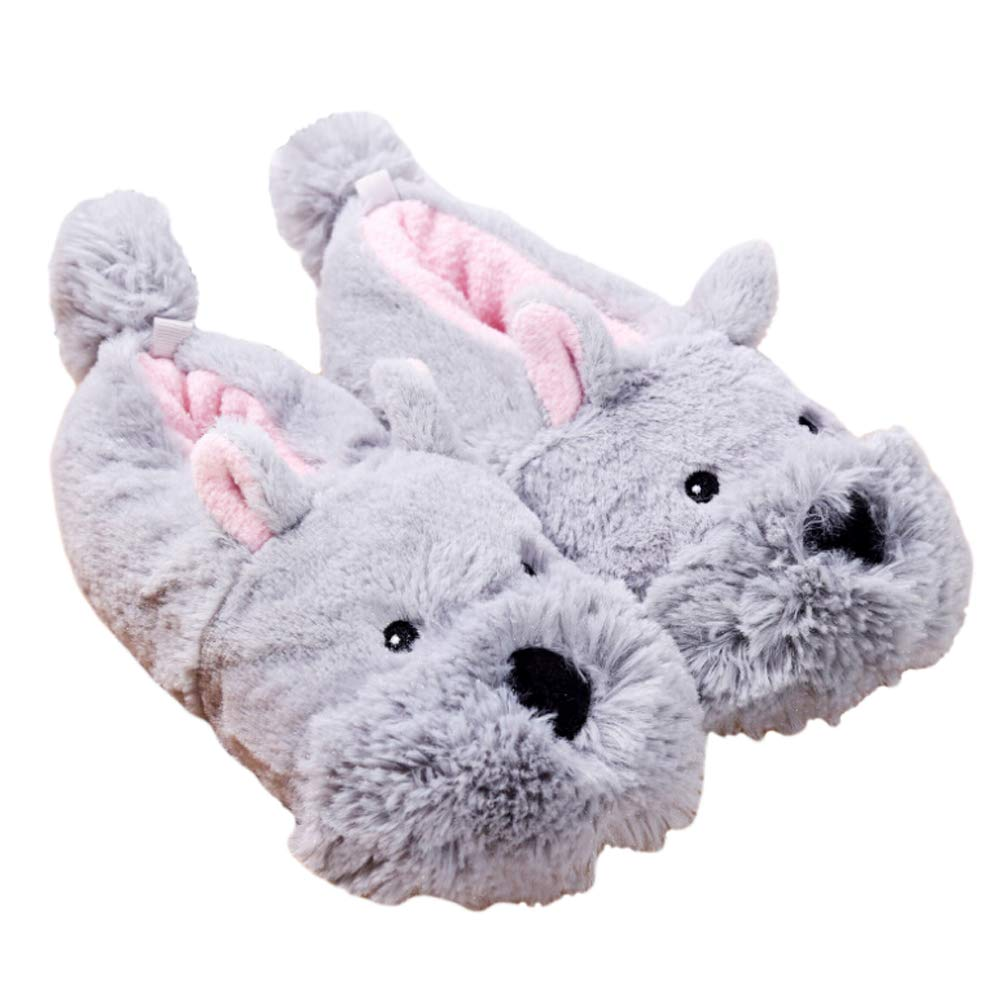 Mwfus Warm Fox Unicorn Animal Slippers Plush Fuzzy Non-Slip Comfortable Slip-on House Indoor Shoes for Kids