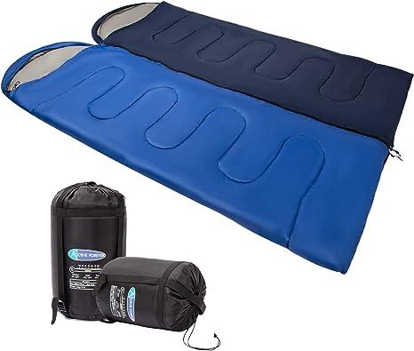 Active Forever Saco de Dormir de 2 Temporadas para Adultos y para niños, Saco de Dormir con sobre para Camping: Resistente al Agua y Compacto (Doble): Amazon.es: Deportes y aire libre
