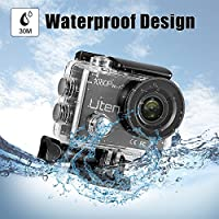 Uten Action Camera HD 1080P 30m Underwater Waterproof Sports Cam