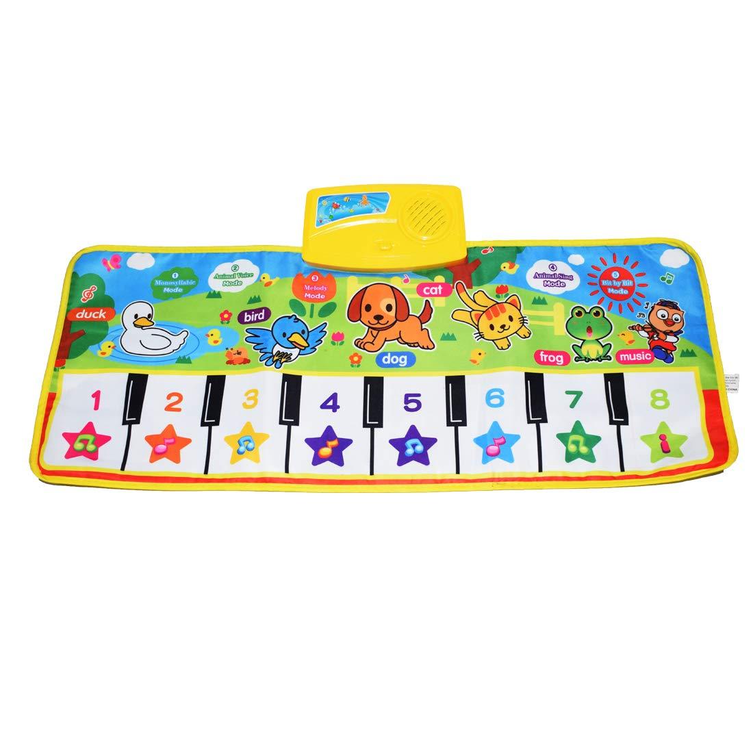 KAREZONINE Piano Mat, Kids Keyboard Mat Playmat Education Toy Birthday Christmas Easter Day Gift for Kids Boys Girls by KAREZONINE