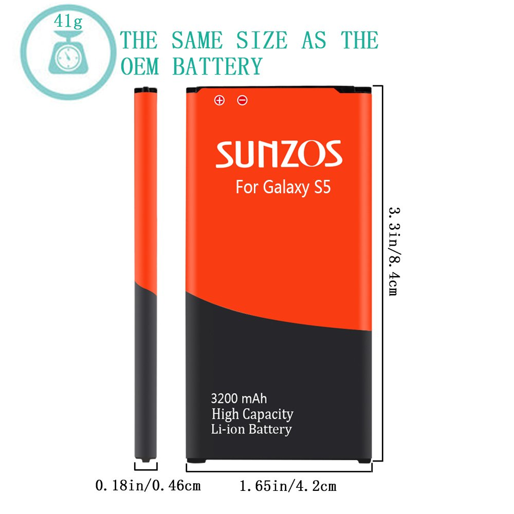 Sprint 3 Years Warranty ,I337 , Galaxy S4 LTE I9506 T-Mobile Galaxy S4 Battery at/&T ,L720 M919,I9500, R970, I9505 SUNZOS 2600mAh Replacement Battery Compatible with Samsung Galaxy S4, Verizon ,I545